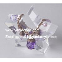 China Star - Shape Chemical Resistance Promotional Crystal Acrylic Jewelry Display Case For Shop on sale