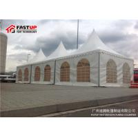 White Aluminum Pvc Pagoda Party Tent For Product Launch Permanent Use
