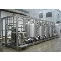 China High Efficient Pasteurized Milk Production Line For Gable Top Carton , Plastic Bottle and Bag on sale