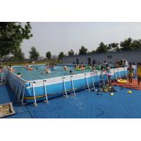Quality Summer Metal Frame Swimming Pool Large Set Custom Steel Frame Pool For Holiday for sale