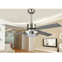 China 18W 52 Inch Contemporary LED Ceiling Fan Light Fixtures with Sand Nickel on sale