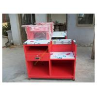 Quality Custom Simple European Checkout Counter / Red Store Cash Desk for sale