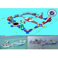 Quality 2000M2 Water Area Inflatable Water Parks , Amusement Sea Water Sport Games for sale