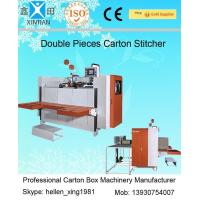 Quality Single / Double Nails Carton Stapler , Carton Stitching Machine with 4 Servo Motors for sale