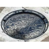 China Municipal Roads Round Inspection Cover , Concrete Steel Manhole Cover on sale