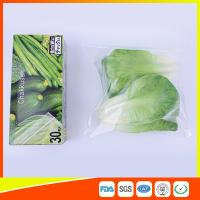Quality Resealable LDPE Clear Ziplock Freezer Storage Bags For Vegetable Biodegradable for sale