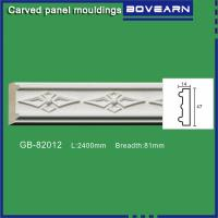 Quality High density polyurethane foam panel mouldings various designs 47mm width color customized OEM cervice for sale