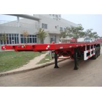 Quality 40 Ft Flatbed Trailer / Shipping Container Delivery Trailer With Tail Retractable for sale