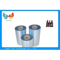Buy High Shrinkage 45mic Clear PET Shrinkable Film Rolls Plastic Film For Sleeves at wholesale prices