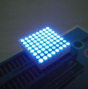 China High Brightness 2mm Led Dot Matrix Display 0.8 Inch , black Surface on sale