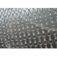 Quality Silver Insect Mosquito Aluminium Fly Screen Chain Curtain , Aluminum Mesh Screen for sale