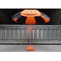 Orange And Black Outdoor Garden Umbrella Heat Transfer Printing , Eco - Friendly