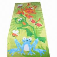 Quality Velour Reactive Printed Beach Towel with Soft Cotton Fabric, Customized Designs/Sizes are Welcome for sale