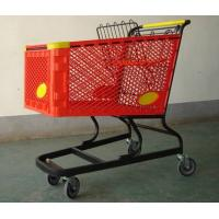 Quality Virgin PP Unfolding Shopping Basket Trolley American Style Retail Carts180L for sale