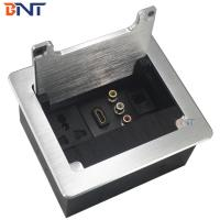 Quality wire pulling type vga and rj45 desktop brushed socket box for conference table for sale