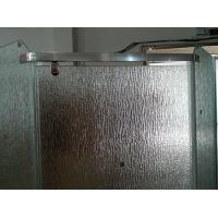 Quality 12mm Bathroom Partition Figured Glass, Custom Frosted Tempered Glass 1000*2000mm for sale