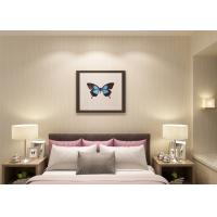 Quality Non - woven Modern Removable Wallpaper for Bedroom With Grey Stripes Pattern for sale