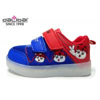 Quality PU Fabric Upper TPR Outsole Childrens LED Shoes , 7 Colors Blinking Shoes For Kids for sale