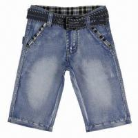 Quality Children's Jean with Grinding Technique, Concise Lines, Delicate Process and Handsome Appearance for sale