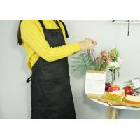 China Adjustable Kitchen Cooking Apron , 100% Cotton Canvas Cooking Apron With Long Waist Straps on sale