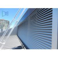 Quality Architectural Hurricane Aluminium Extruded Windows Powder Coated Fixed Louver for sale