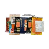 Quality SGS High Barrier Printed Nylon / LLDPE Smoked Salmon Vacuum Packaging Bags for sale