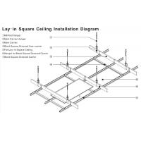 600 X 600 Fireproof Acoustic Aluminum Perforated Ceiling Panel For