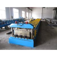 0.8-1.5mm Thickness Steel Floor Decking Forming Machine With High Strengthen Power
