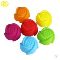 Quality Food Grade Silicone Cupcake Molds Colored For Making Sweety Cakes for sale