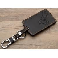 Quality Renault car accessories , Leather Key Bag with Chromed Metal Hook for sale