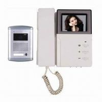 Quality 4 Wired Video Door Phone for Villas, CCD&CMOS Cameras, 4-inch B/W&Color TFT LCD, Wall Mounted Type for sale
