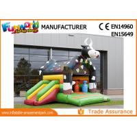 Buy cheap Large Inflatable Bouncer Slide / 0.55mm PVC Tarpaulin Inflatable Cow Bouncer from wholesalers