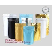 Quality Online Product 135*265*75MM Stand Up Zipper Pouch Aluminum Foil Square Bottom Coffee Bags With Valve/ bagplastics bageas for sale