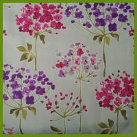 China Flower design heat transfer printed tablecloth made of 100% polyester table decration cloth on sale