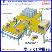 Steel Platform Fully Assembled 2-3 floors with stairs used in warehouse