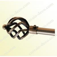 Quality Decorative Antique Brass Plated Curtain Rod for sale