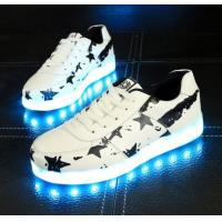 China Bluetooth App LED Light Up Sneakers Custom White Ed Shoes For Adults on sale