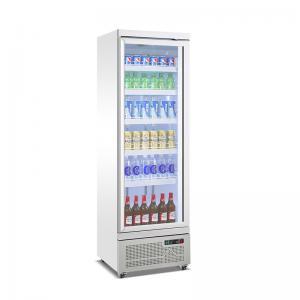 Quality Glass Door Drinks Fridge Soft Drink Beer Refrigerated Display Coolers Upright Single Door Cooler for sale