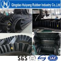 Buy cheap Ep100~Ep400 Sidewall Corrugated Rubber Conveyor Belt 500mm height cleat DIN Standard from Wholesalers
