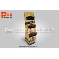 Quality POS Corrugated Pop Display With Stable Shelves For M & M Chocolate Bean Promoting for sale