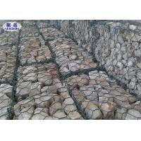 China 8X10 Galvanized Rock Cage Wall Hexagonal Shape For Embankment Prevention on sale