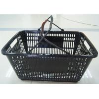 Quality PE Store Hand Shopping Basket , Plastic Vegetable Storage Basket 32 Litres for sale