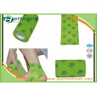 Buy Flexible Stretch Bandage Wrap For Veterinary Pet / People With Dog Paw Printing at wholesale prices