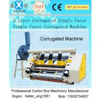 Quality 2 Layer Single Facer Corrugated Paper Carton Making Machine Simple Structure for sale