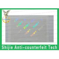 Quality Safety shipping Reasonable price FL,MD  Hologram overlay PET transparent for sale