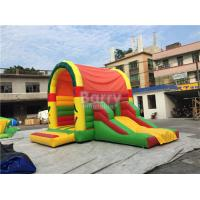 Quality Clearance Inflatable Bouncer , Beautiful Jump House With Small Slide for sale
