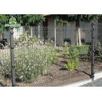 China Black Welded Wire Garden Fence With 3D Curved Type Powder Coating Finished on sale