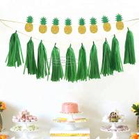 Quality Hanging Solid Color Paper Garland Party Tassel Garland For New Year Party Decoration for sale