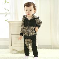 Quality Brand baby clothes Black leopard two-piece outfit Baby clothing suit(0-3 Year) for sale