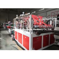 Quality Grid PP Hollow Sheet Extrusion Line , PP Plastic Template Board Making Machine for sale